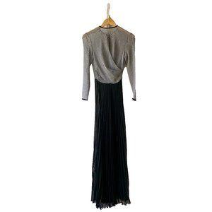Barbara Casasola Sheer Pleated Maxi Dress
